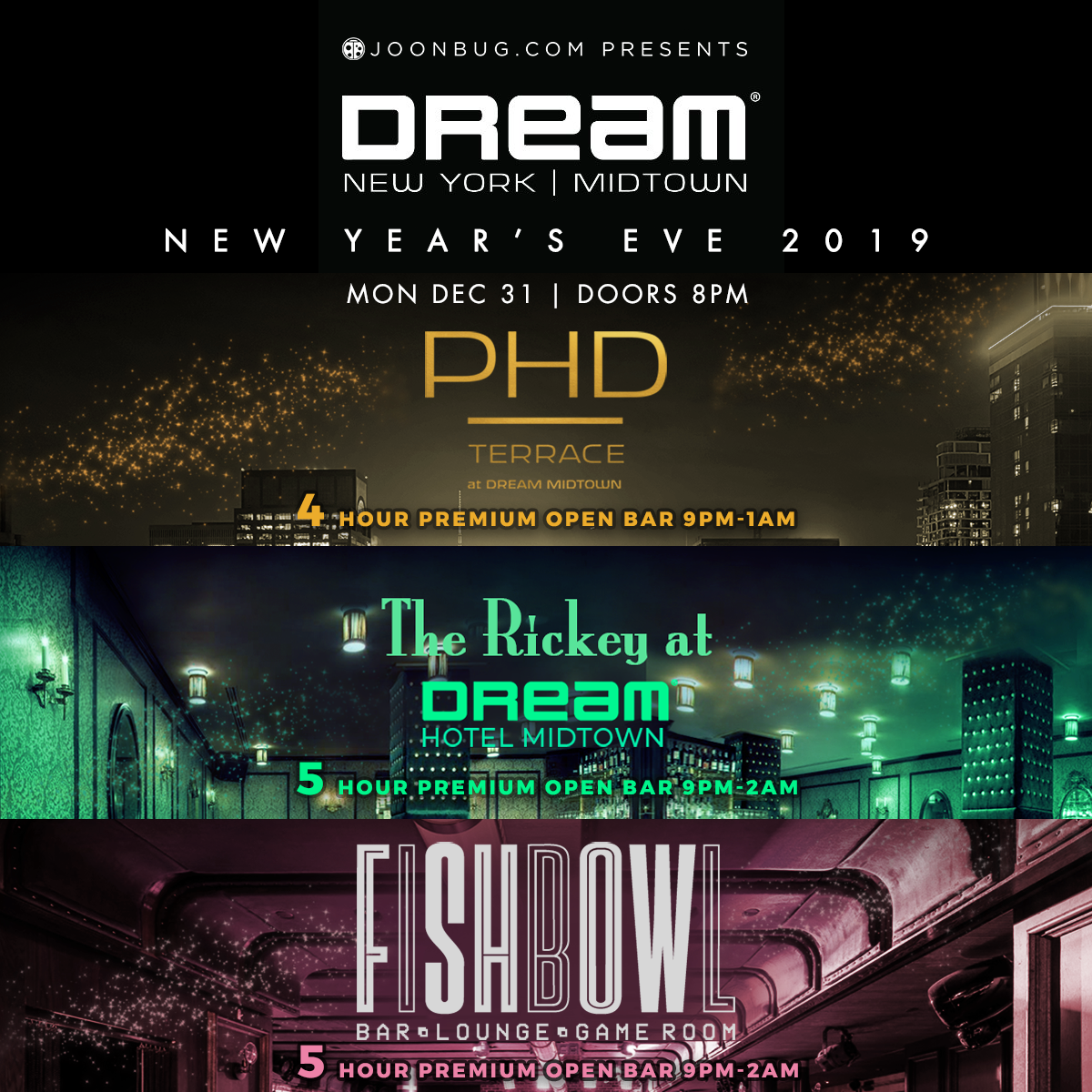 Dream Midtown Hotel New Years Flyer