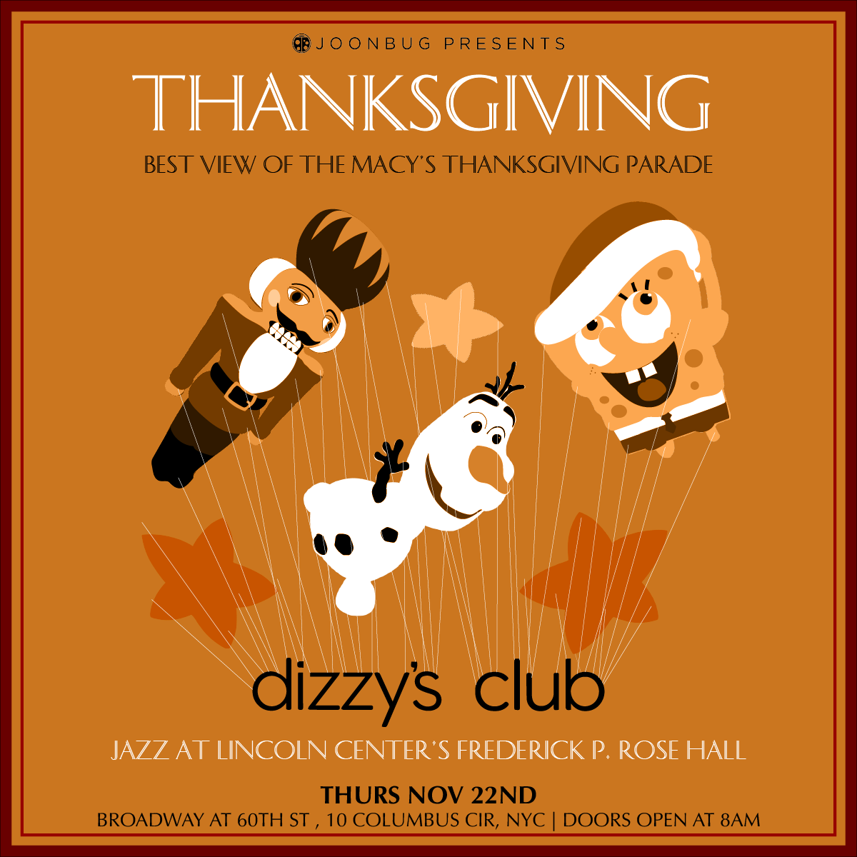 Macy's Thanksgiving Parade Viewing Party @ Dizzy's Club