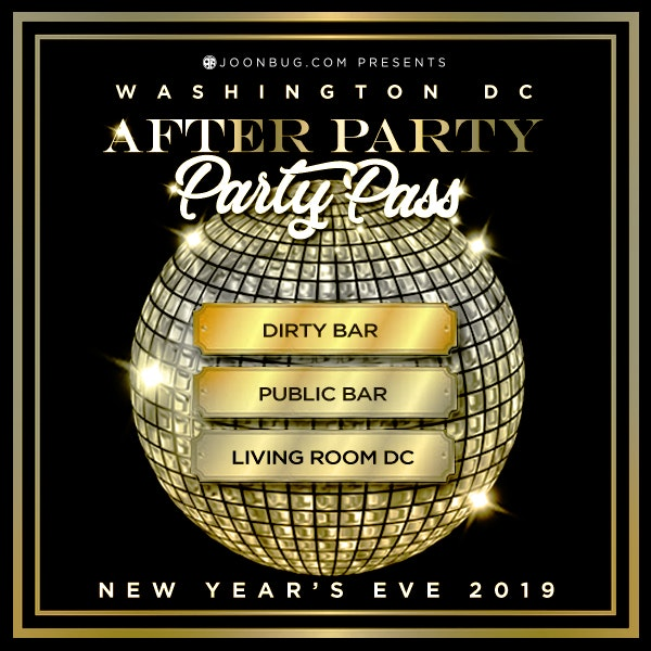 PARTY PASS - DC All Access New Years Flyer