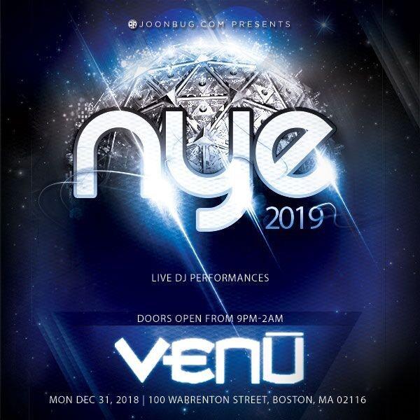 Venu Nightclub New Years Flyer