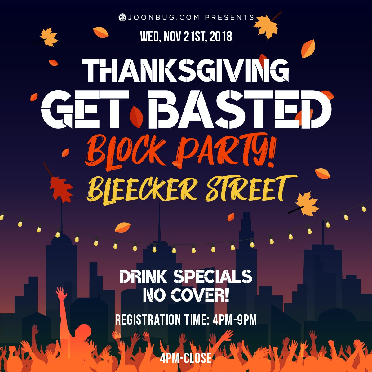 Bleeker St - Thanksgiving Eve Block Party
