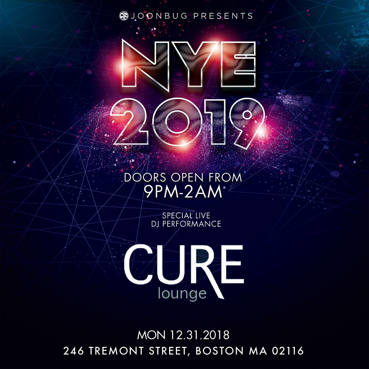 Cure Lounge New Years Flyer