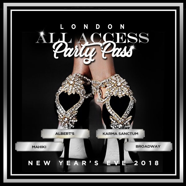London All Access NYE Party Pass