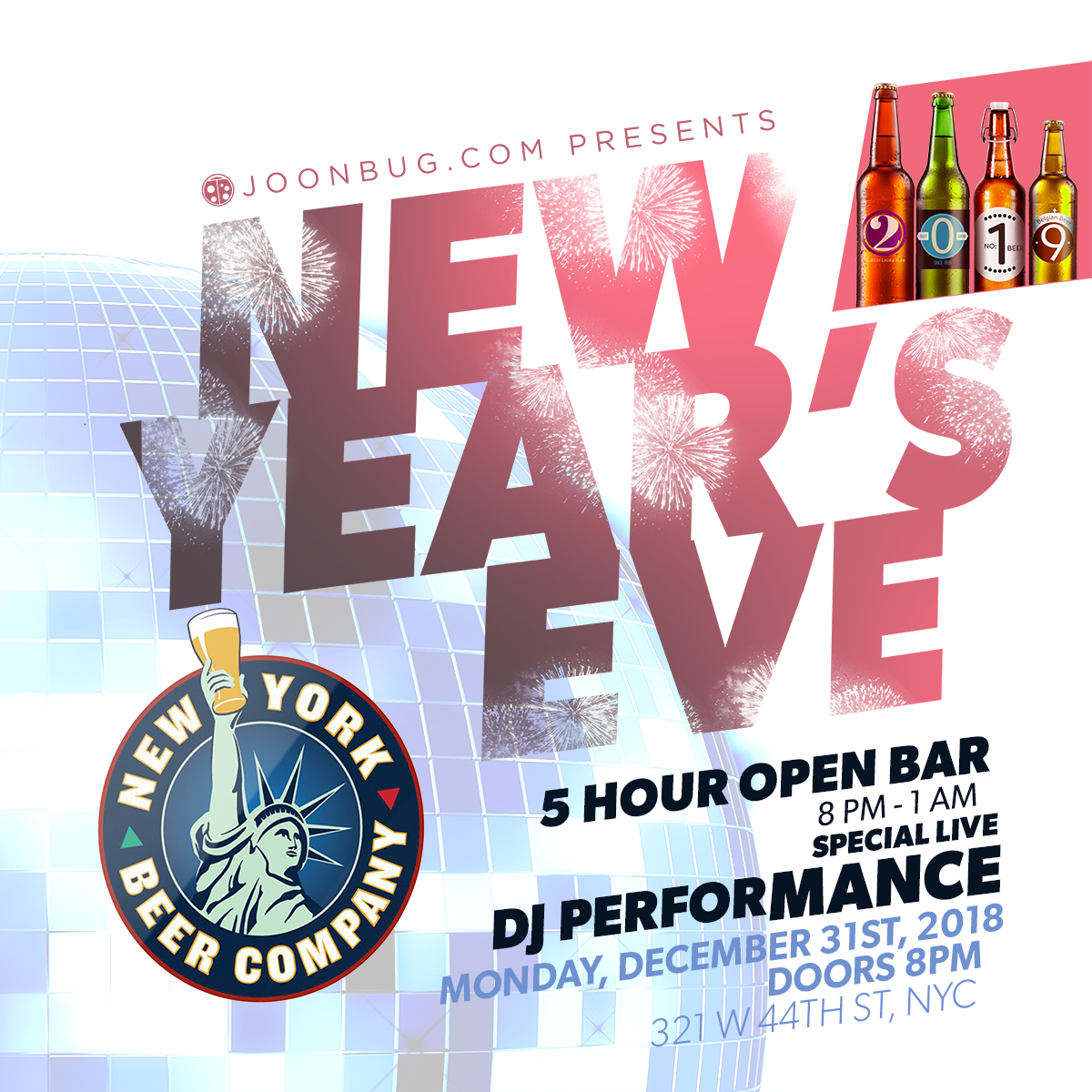 The New York Beer Company New Years Flyer