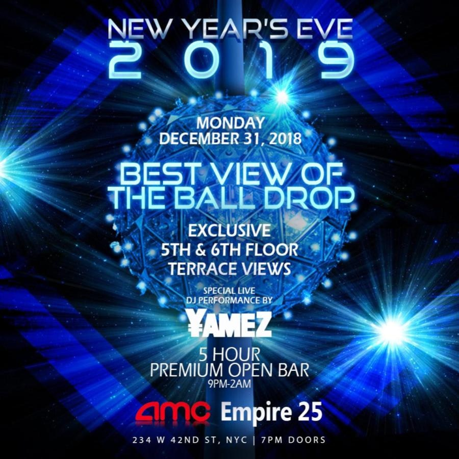 Amc Times Sq Nye Ball Drop Live View New York New Years Eve Party