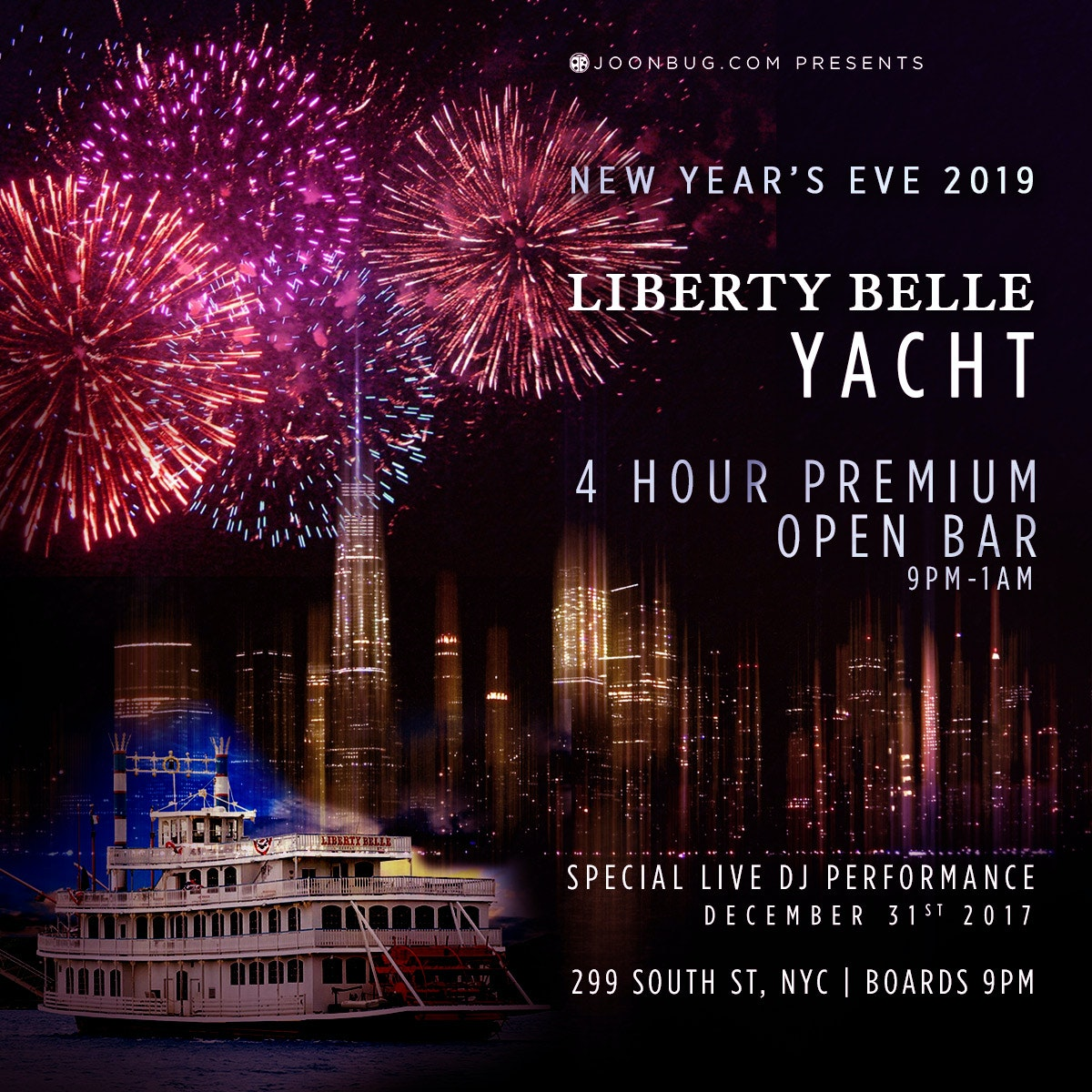 Liberty Belle Yacht New Years Flyer