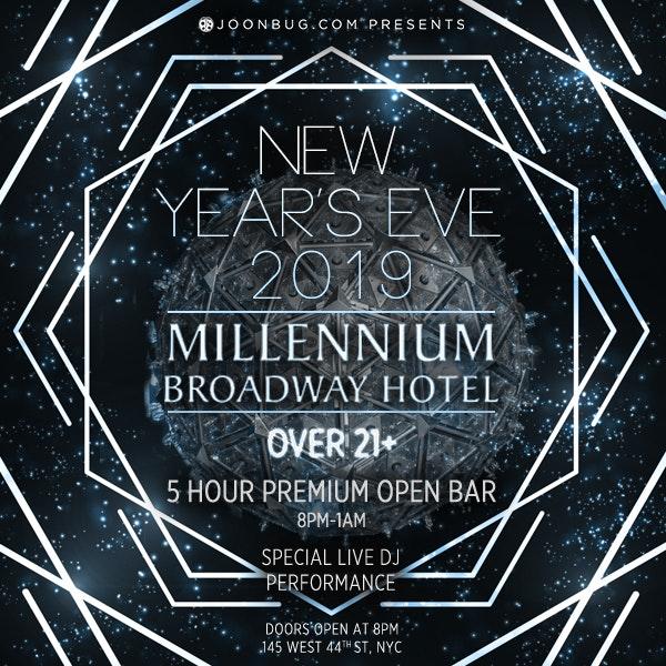 Millennium Broadway Hotel Ball Drop View New Years Flyer