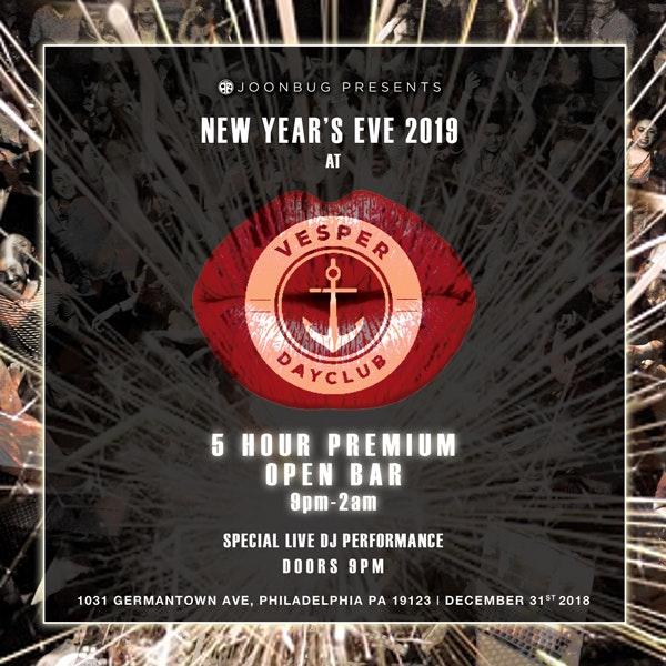 Vesper Dayclub New Years Flyer