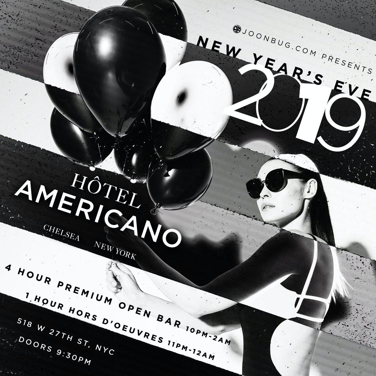 Hotel Americano New Years Flyer