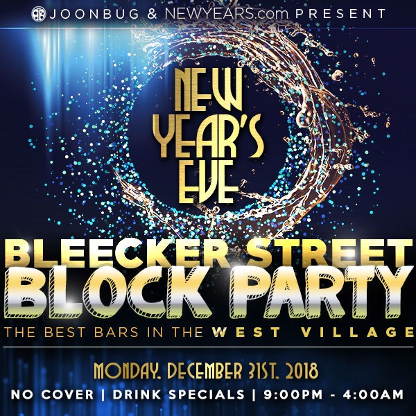 Bleecker St New Year's Eve Block Party New Years Flyer