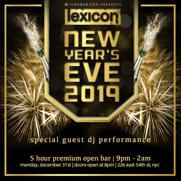 Lexicon New Years Flyer