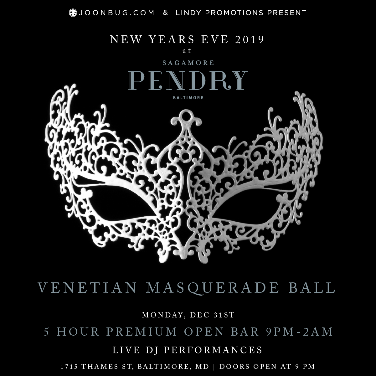 Sagamore Pendry Baltimore New Years Flyer