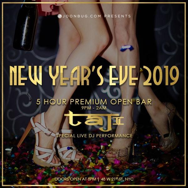 Taj II New Years Flyer