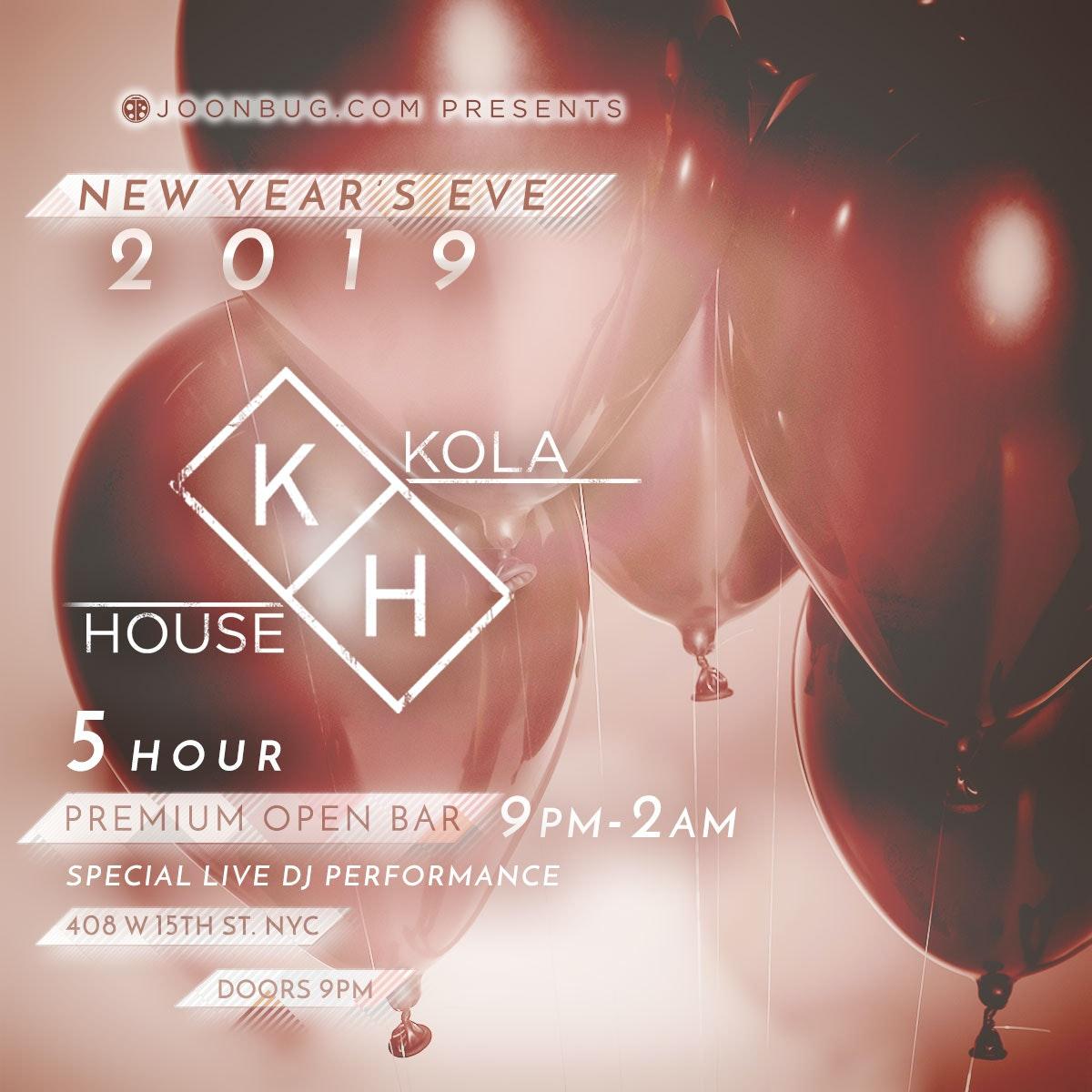 Kola House New Years Flyer