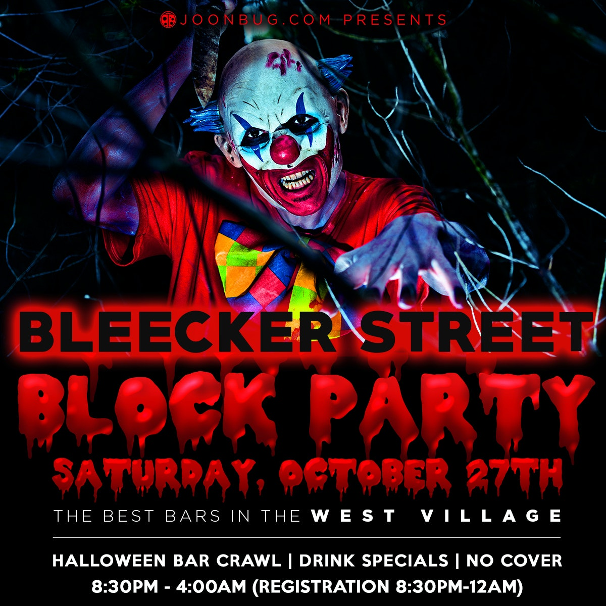 Bleecker St Halloween Block Party New Years Flyer