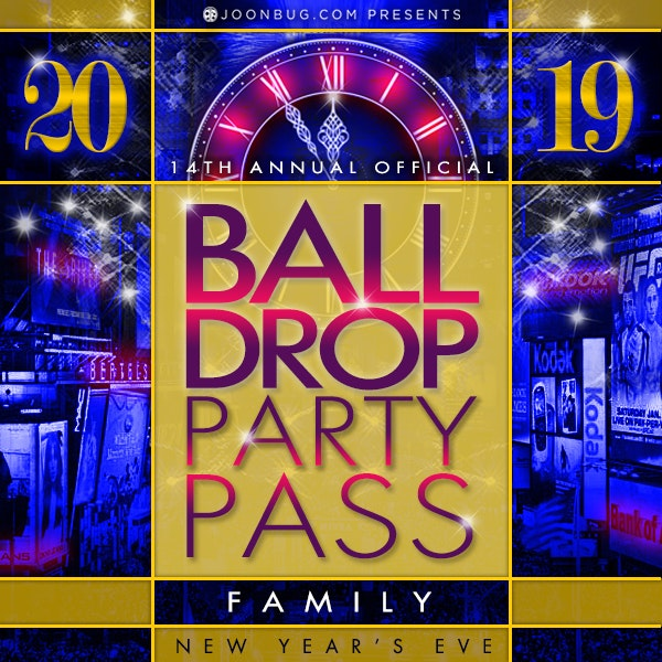 Ball Drop Family Party Pass New Years Flyer