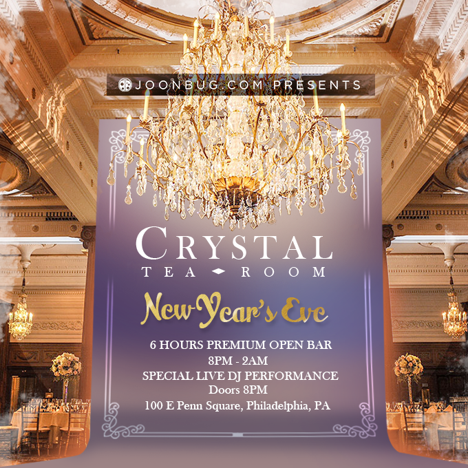 The Crystal Tea Room New Years Flyer