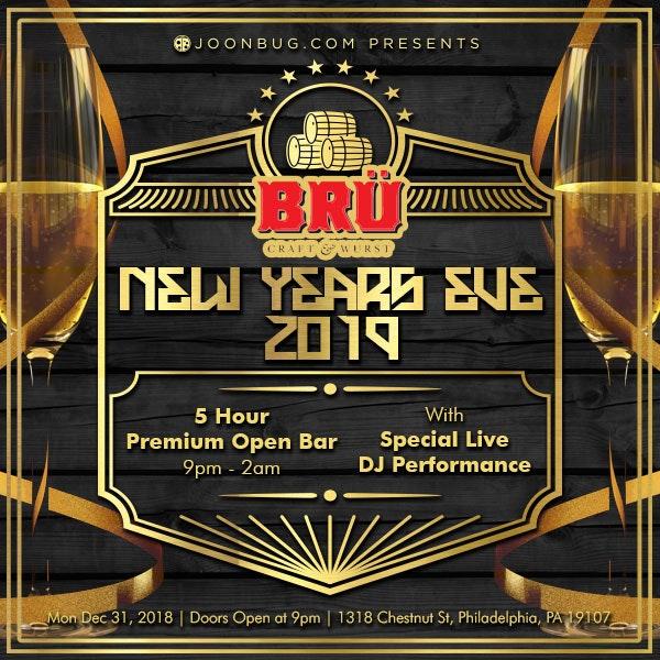 Bru Craft & Wurst New Years Flyer
