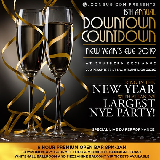 southern exchange at 200 peachtree atlanta vip new years parties