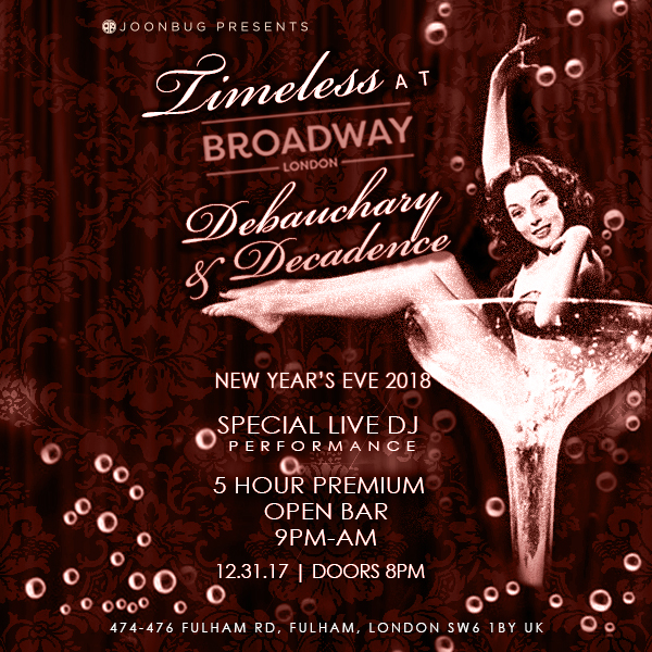 Broadway London NYE Party