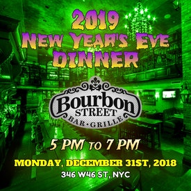 Bourbon Street Dinner [5pm to 7pm]