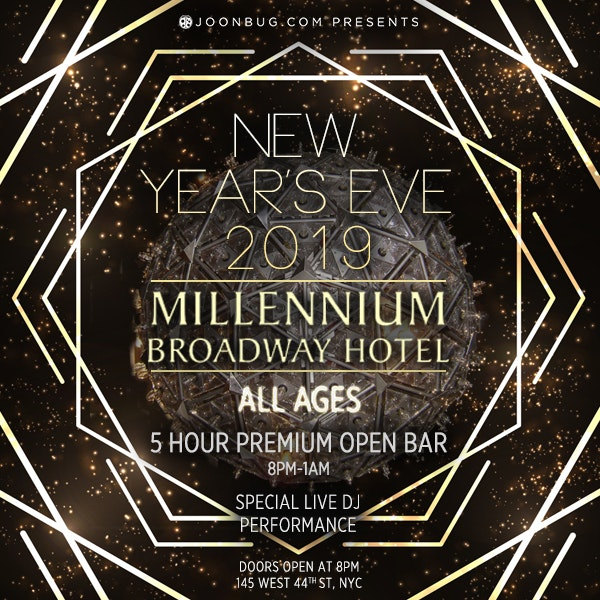 Millennium Broadway Ball Drop View (All Ages) New Years Flyer