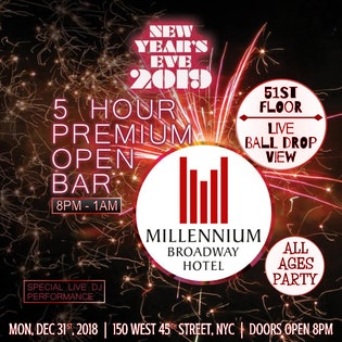 millennium broadway all ages party