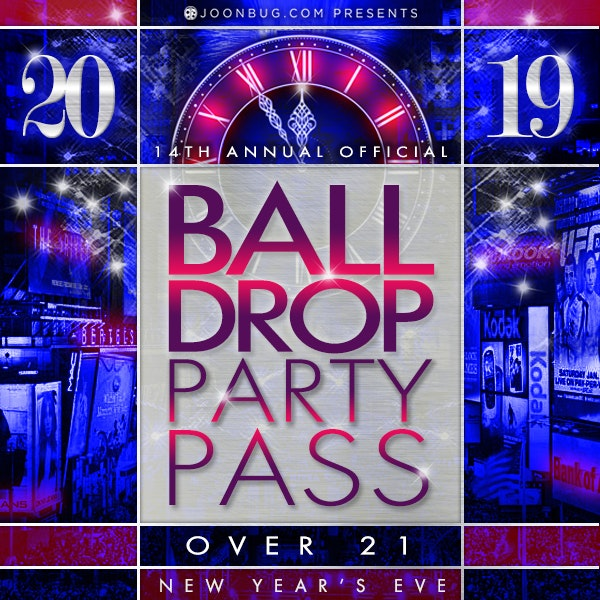 Ball Drop Party Pass  New Years Flyer