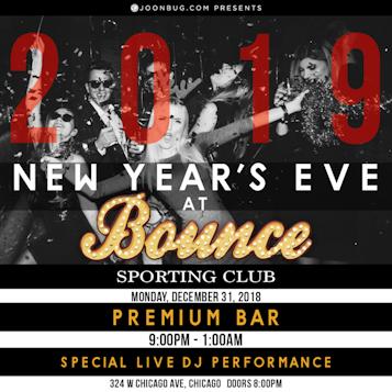 Bounce Chicago NYE 12/31/18