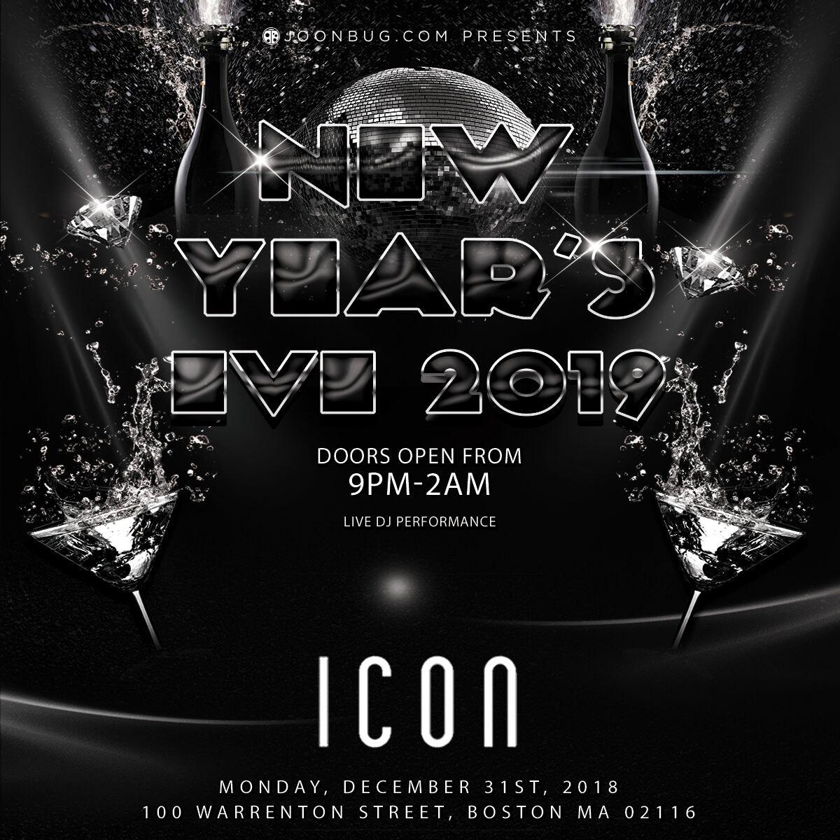 ICON Nightclub New Years Flyer