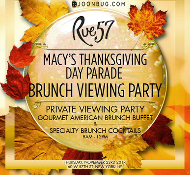 Macy's Thanksgiving Parade Brunch Rue 57