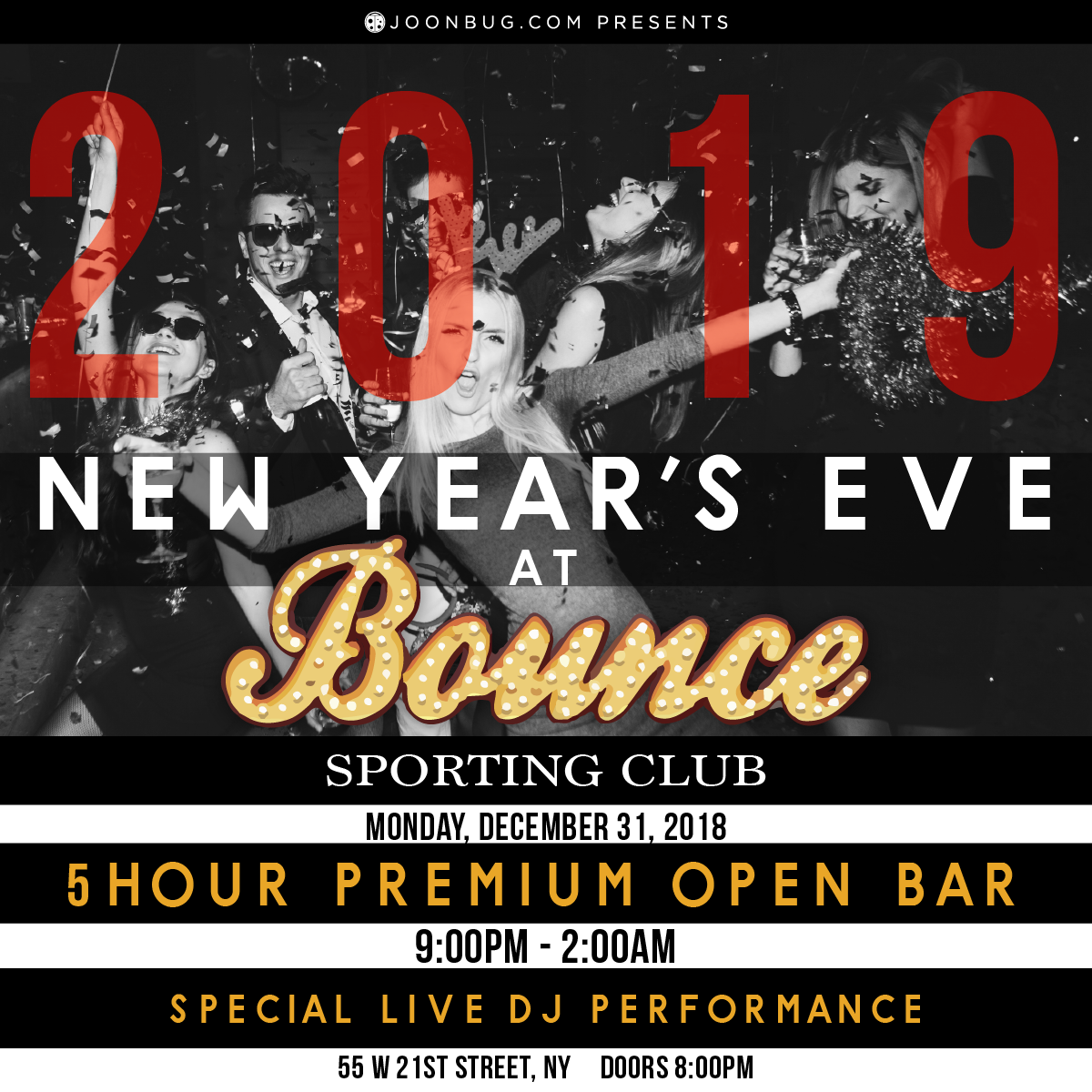 Bounce New Years Flyer