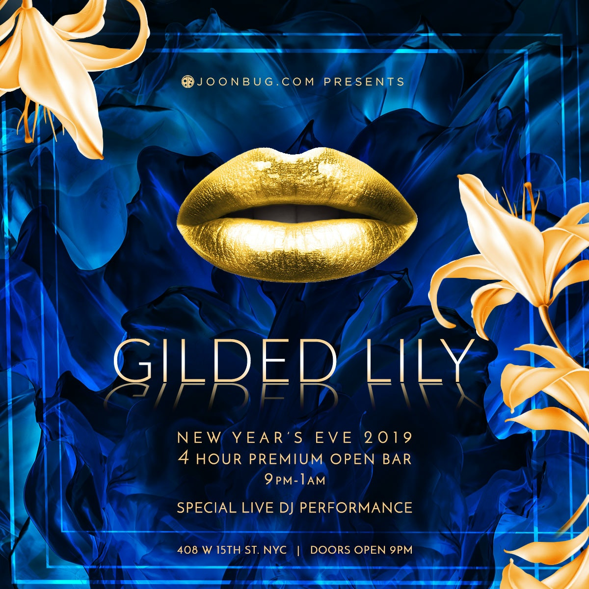 Gilded Lily New Years Flyer