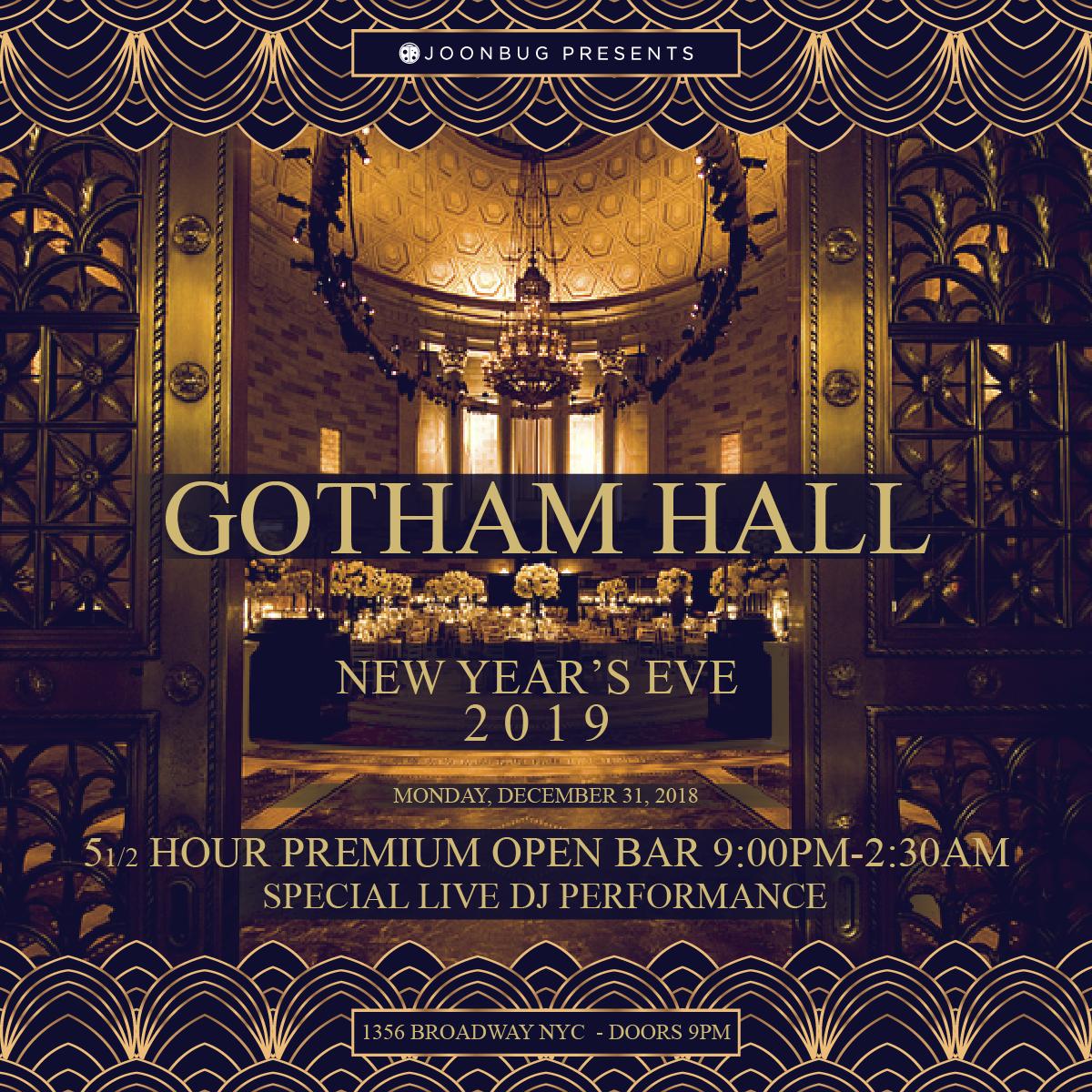 Gotham Hall New Years Flyer
