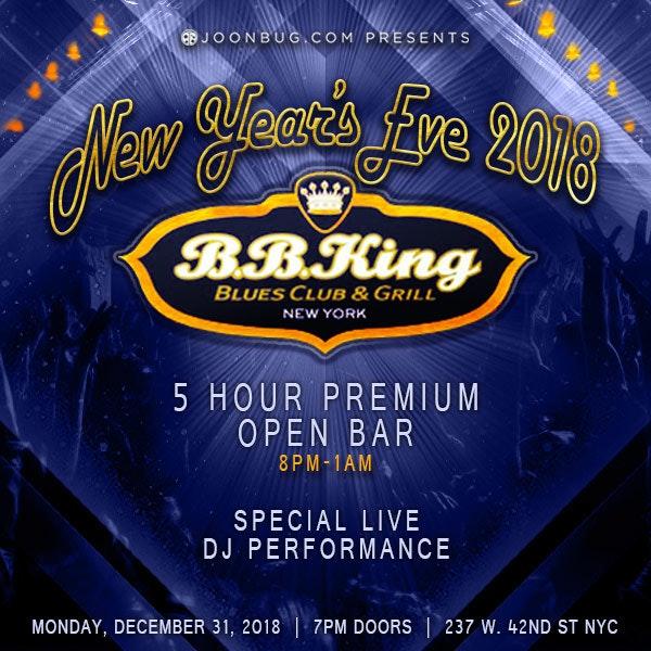 BB King Blues Club New Years Flyer