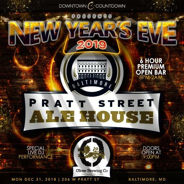 Pratt Street Ale House New Years Flyer