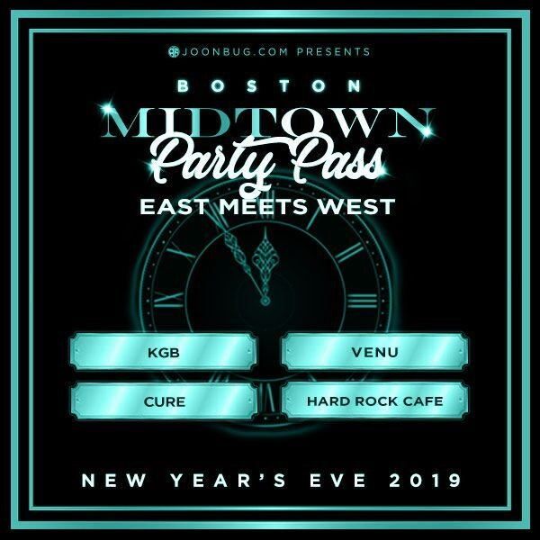 Boston All Access Pass New Years Flyer