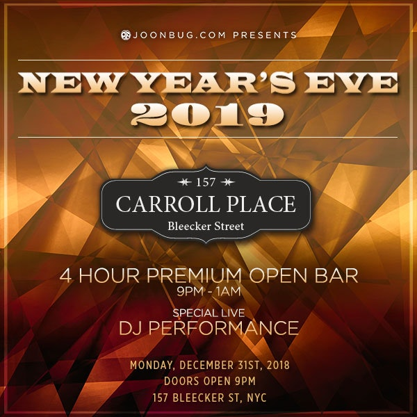 Carroll Place New Years Flyer