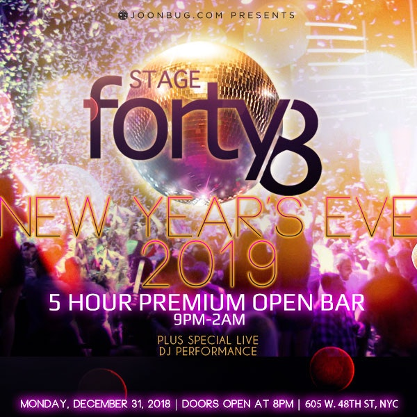 Stage 48 New Years Flyer