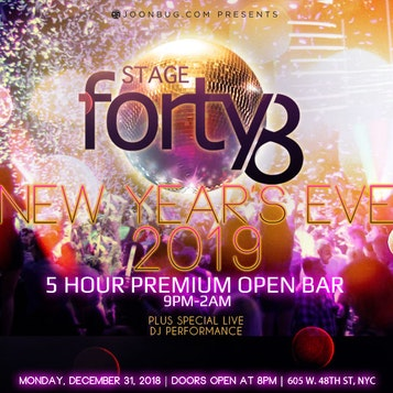 New York Stage 48 VIP NYE Party | Buy Tickets Now