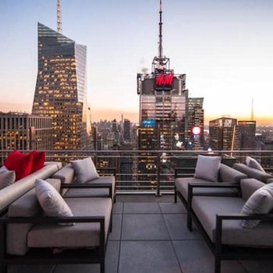 Best Ball Drop Terrace View At The Hyatt Centric New York Nye